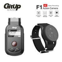 Nuevo GitUp F1 WiFi 4K 3840x2160p cámara de acción deportiva Video cámara de salpicadero Ultra HD lapso de tiempo grabadora de vídeo de exterior con Control remoto