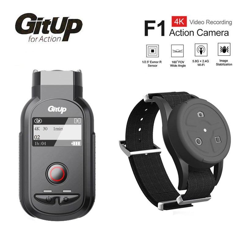 Nuevo GitUp F1 WiFi 4 K 3840x2160 P cámara de acción deportiva Video Dash Cam Ultra HD lapso de tiempo exterior grabadora de vídeo con Control remoto