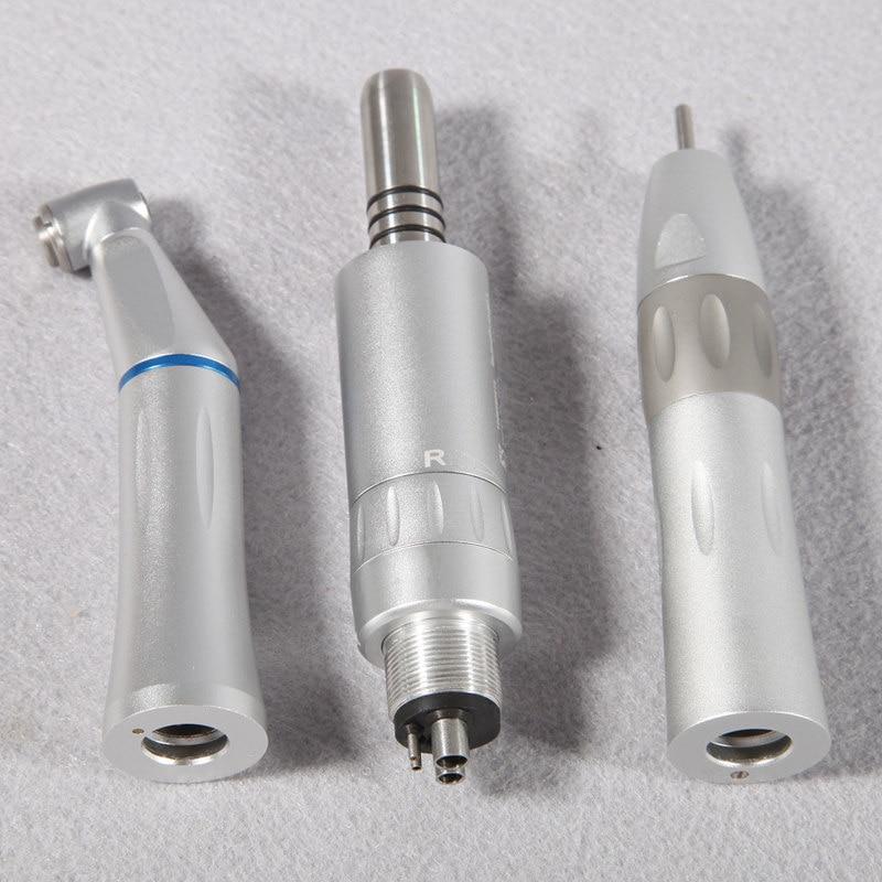 Dental Slow Low Speed Handpiece KIT Contra Angle Air Motor Straight Inner Water Spray Brush Motor dental Lab micromotor polish цены