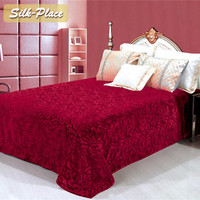 SILK PLACE Flannel Blanket Bed Sheet Bedline Soft Touch King Size Double Faced Sofa Travel Thermal Throw Blanket Carpet Plaids