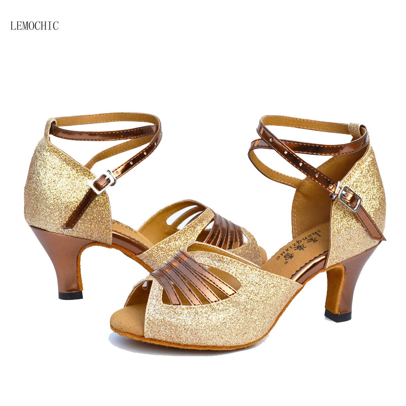 LEMOCHIC new listing high heels rumba latin tango jazz belly tap arena classical ballroom shoes high quality for dancing ladies