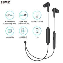 ELFMIC EB03 ANC Noise Cancelling Earphones Neckband Headsets Wireless Bluetooth 4.1 APT-X IPX5 Waterpproof Cable HIFI Headphones