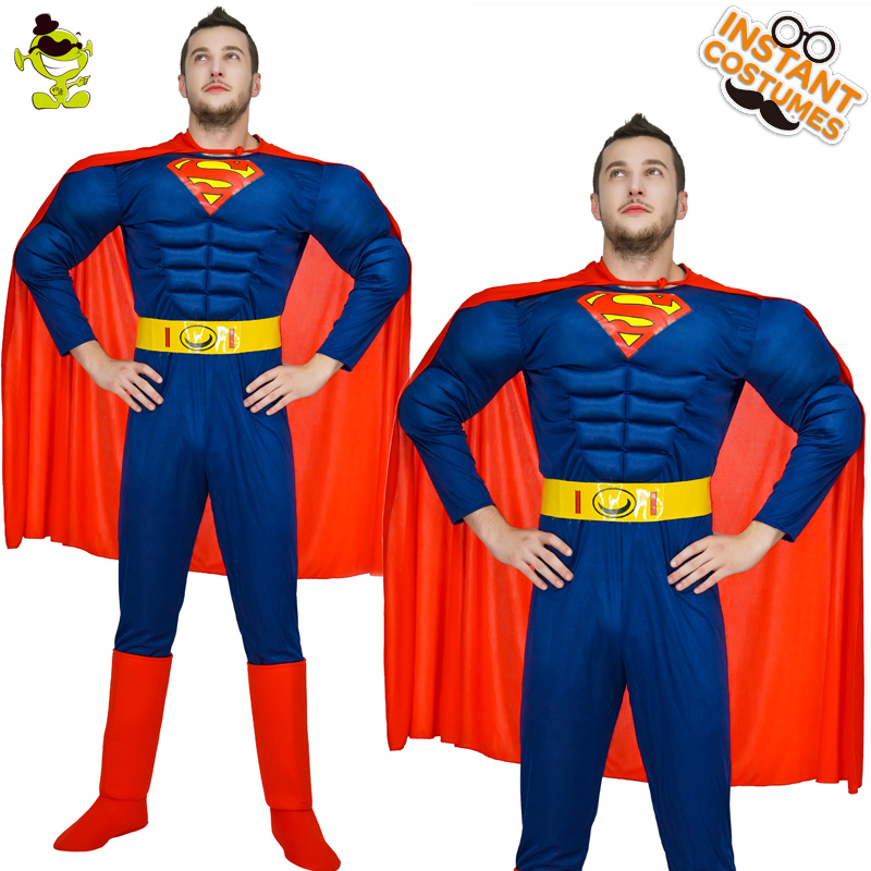 High Quality Superman American Captain Costume Adult MAN The Avengers Thor Costume for Halloween Party SuperHero
