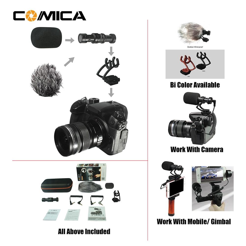 COMICA CVM-10II Full Metal MINI compacto en la Cámara cardioide direccional de vídeo con micrófono montaje de choque para Smartphone, gopro