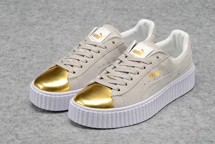 New Arrival PUMA rihanna Suede Platform creeper Basket Suede Men shoes and  women Sneakers Badminton Shoes dc13ffabb