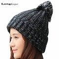 Winter Hats for Women Beanies Knitted Cap Crochet Hat Rabbit Fur Pompons Ear Protect Casual Knit Cap Chapeu Feminino 2016 Hot