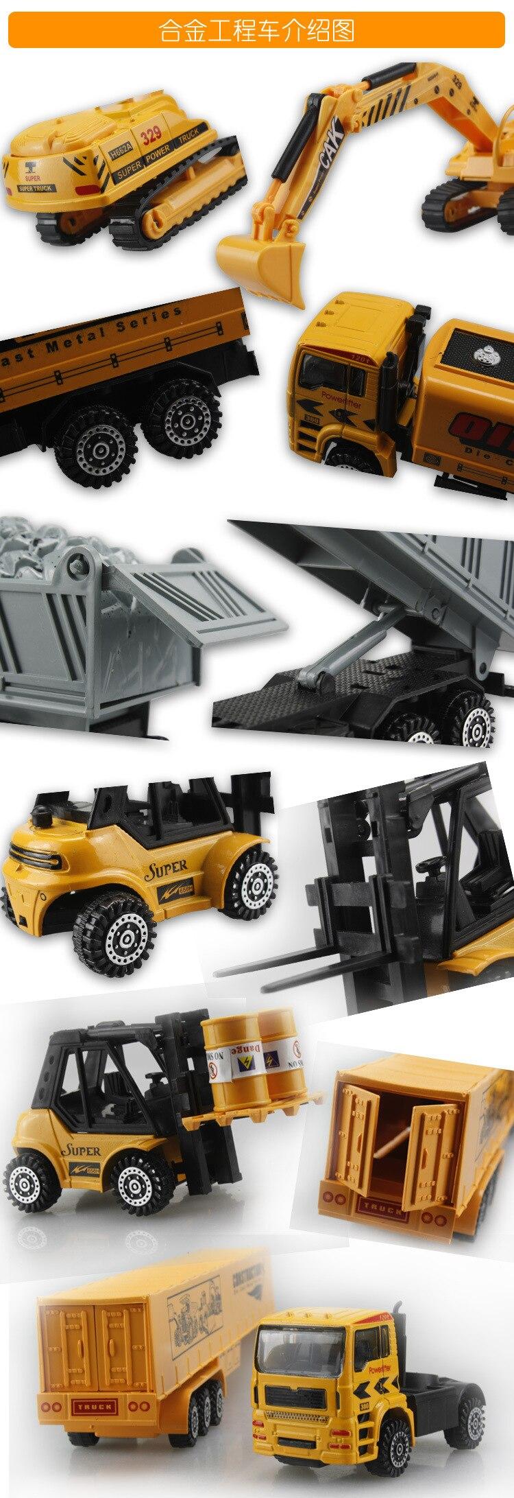 brinquedo caminhão escavadeira crianças brinquedos em caixa presente natal frete grátis