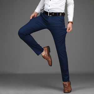 Image 5 - NIGRITY 2020 Autumn Mens Casual Pants High Quality Classics Fashion Male Cotton Trousers Business Formal Mens Office Long Pants