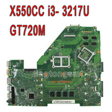 for ASUS X550CC R510CC DDR3 fit X550VB Laptop Motherboard GT720M 2GB I5-3337U CPU HM76 X550CC REV:2.0 PN:60NB00WA 100% Tested