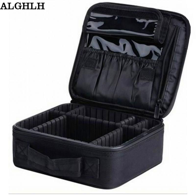 ALGHLH Značka Upgrade Nastavitelné ženy Profesionální make-up Bag cestovní Vodotěsné Organizátor Tattoo Nail Art Tool Storage Box