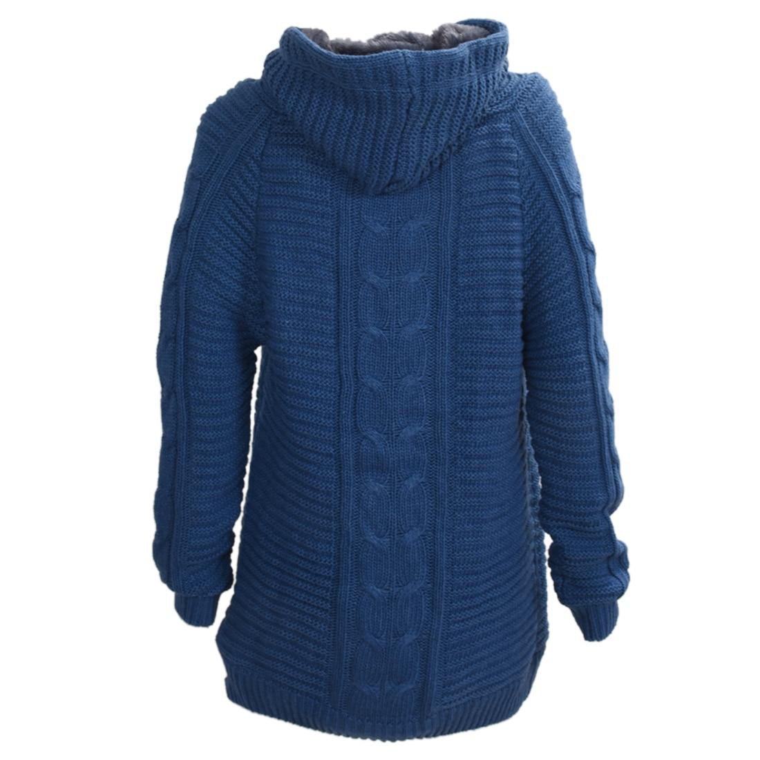 Aliexpress.com : Buy New Womens Cardigan Knit Hoodie Mid long ...