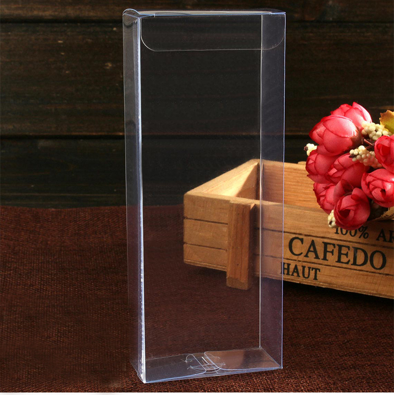 20pcs 3*6*15cm Wedding PVC Box Clear Gift Craft Cosmetic Display Box Small Jewelry Packing Holder Transparent Plastic Box