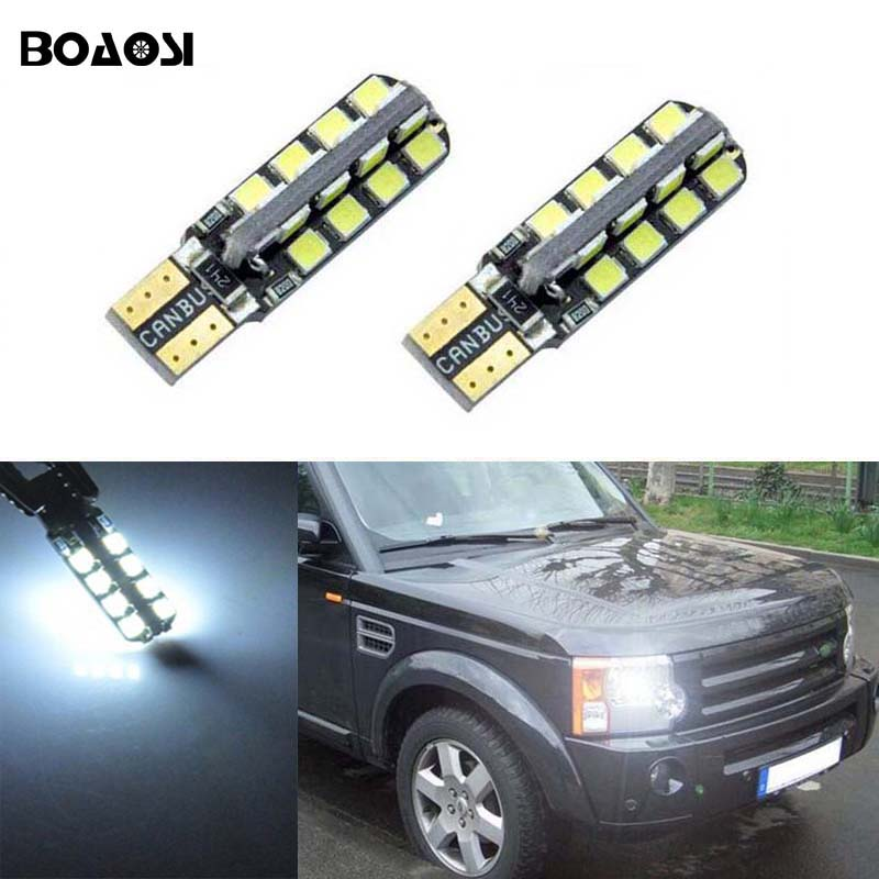 2x T10 LED W5W Samsung Car LED Auto Lamp Light Bulbs For Land Rover v8 discovery 4 2 3 x8 freelander 2 defender A8 a9