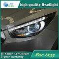 Estilo do carro caso Da Lâmpada de Cabeça para Hyundai IX35 2010-2012 Faróis LED Farol DRL Lente Feixe Duplo Bi-Xenon ESCONDEU Acessórios