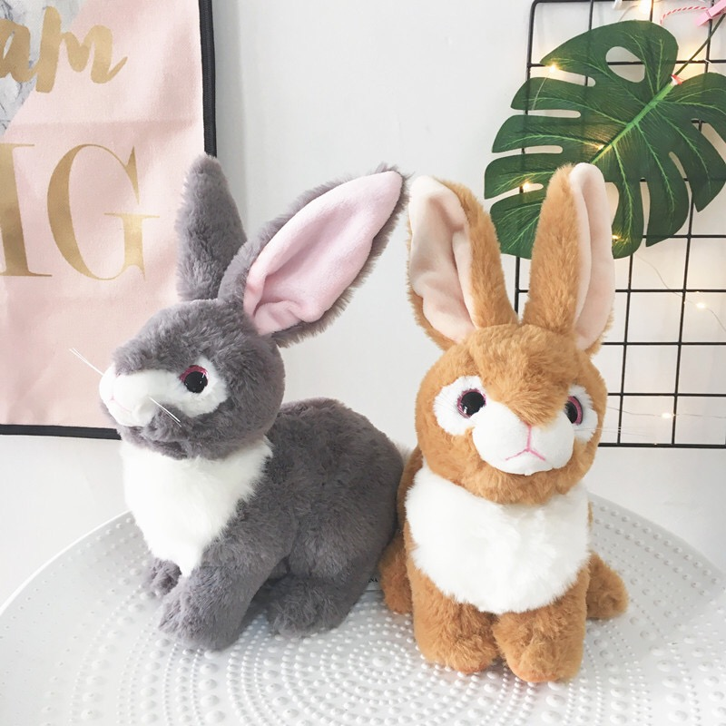 25cm Plush Rabbit Toy Cute Bunny Stuffed Soft Doll Big Eyes Small Simulated Animals Plush Toy Gift For Children Kids Toys 25cm plush kangaroo toys with soft pp cotton creative stuffed animal dolls cute kangaroos with small baby toys gift for children
