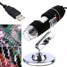 Cheapest prices 1pc 8 LED USB Digital Microscope Endoscope 50-500X 5MP Magnifier Camera + Stand with CD Driver Mayitr