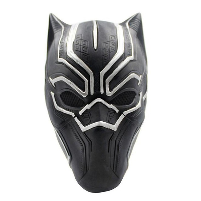 NEW The Avengers Black Panther latex mask helmet Cosplay Captain ...