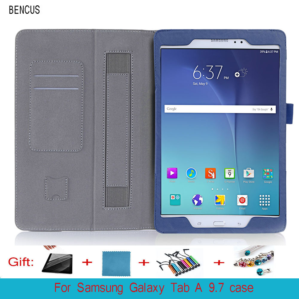 BENCUS For Samsung Galaxy Tab A 9.7 SM-T550 SM-T555 SM-T551 Case Lichi PU Leather Stand Case Cover