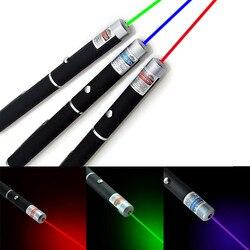 Мощная зеленая красная Синяя лазерная указка ручка-лазерная указка 5 мВт Профессиональный мощный лазер Лидер продаж