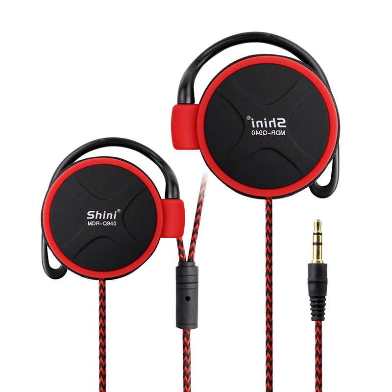 Shini q940 fones de ouvido 3.5mm esportes fone de ouvido earhook para música mp3 player computador telefone móvel fone atacado