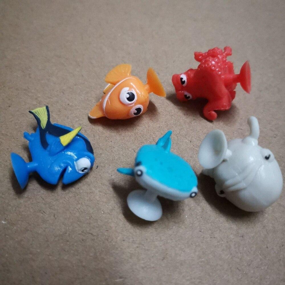 20pcs 3cm Mixed Bonstiks Sucker Clown Fish Nemo Toy Cupule Cartoon Fish Figures Mini Suction Cup Capsule Model D11