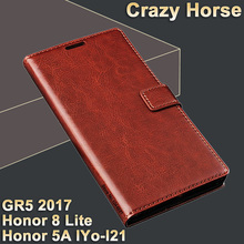 Huawei Honor 5A LYO-L21 case cover leather Luxury flip leather case for gr5 2017 cover Crazy horse honor 8 lite case cover