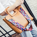 Baila r2016 Personalidade alça de transporte totes ombro messenger bag multicolor tiras famosa marca mulheres bolsa de Alta capacidade