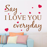 Wall Decal I Love You Everyday Heart Words Large Nice Wall Sticker Quote Vinyl Wall Art