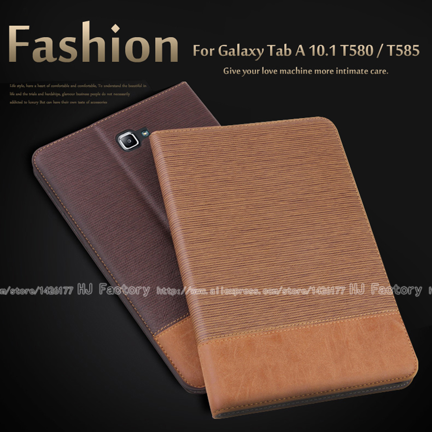 Business Leather Case for Samsung Galaxy Tab A 10.1 T580 Tablet Support stand Cover with Card Solt For T585 + Film + Stylus luxury flip pu leather case cover for samsung galaxy tab a 10 1 2016 t580 t585 t580n t585n tablet stand cover with card slots