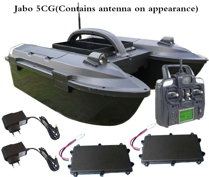 Hot sell New arrival RC Fishing Bait Boat JABO 5A 5CG Bait Boat Fish Finder Jabo VS Jabo 3A 3CG Bait Boat Remote Control Toy free shipping factory price catamaran hull jabo 5a long distance two hoppers rc bait boat for releasing hook