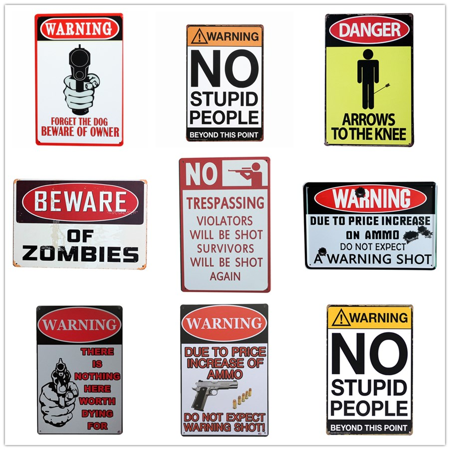 Признаки плакат предупреждение налет Ретро металла олова признаки домой пластина для Настенный декор Книги по искусству