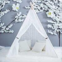 Полностью кружевное вигрево-ручная работа, индийская принцесса, Сказочная Игровая палатка для помещений, наружная белоснежная свадебная в...