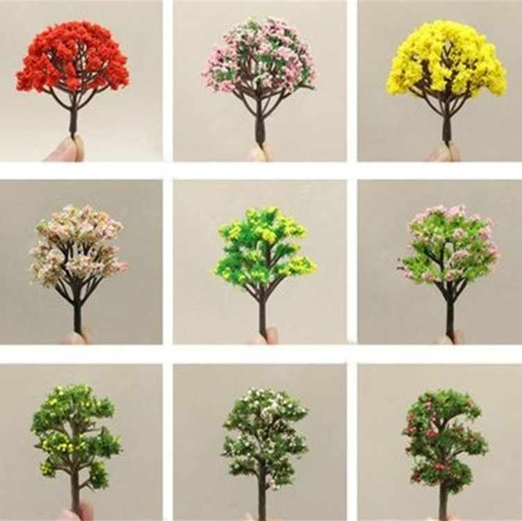 1PC Mini Tree Fairy Garden Decorations Miniatures Micro Landscape Resin Crafts Bonsai Figurine Garden Terrarium