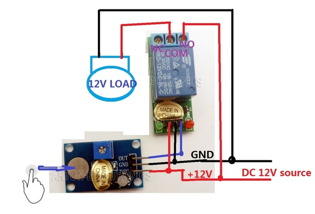 Aliexpress Com   Buy Dc 12v Trigger Touch Sensor Key