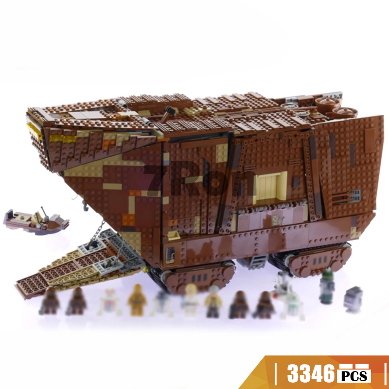 05038 Compatible with Lego blocks Star Wars 75059 Force Awakens Sandcrawler Model building toys hobbies bricks for children gift star wars 10373 force awakens tie advanced prototype building blocks toys for children gifts block compatible legoingly 75082