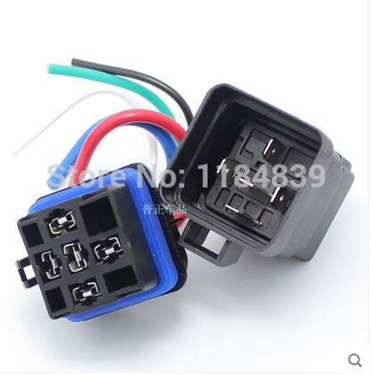 Waterproof integrated automotive relay 12V 5 feet 40A normally open with a line containing a socket 1pc my4nj hh54p intermediate relay ac220v dc24v 12v small my4n j 14 feet magneti