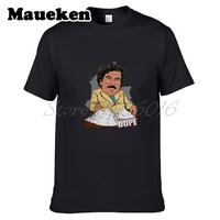 Men Pablo Escobar Sunglasses Famous Narcos Colombian Gangster Drugas T Shirt Tees Short Sleeve T SHIRT