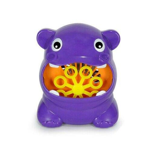 Niños bebé burbujas bañera juguetes hipopótamo automático ducha máquina soplador de baño de la música de peluche de juguete de regalo 2019 nuevas zapatillas de moda para niños, zapatos deportivos para niños, zapatos transpirables de fondo suave para exteriores, color rosa, plata, tamaño 30-35
