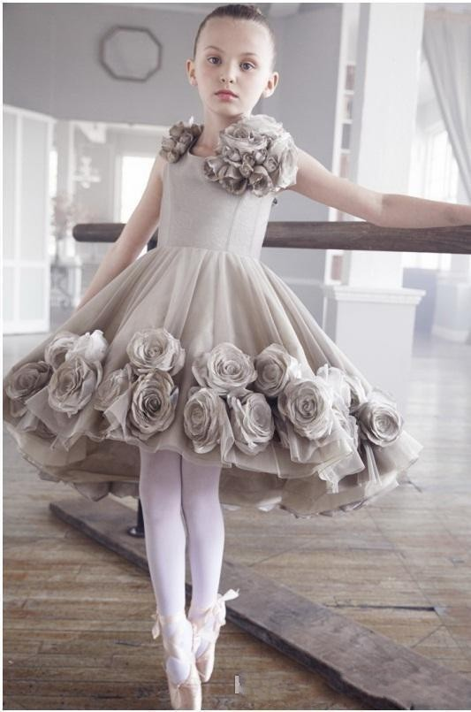 Vintage-Flower-Girl-Dresses-Sleeveless-Knee-Length-A-Line-Tulle-Hand-Made-Flowers-Ballet-Pageant-Dresses