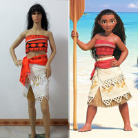 Polynesia Princess Moana Cosplay Costume Carnival Christmas Costumes Movie Moana Dress Custom Made