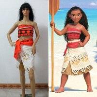 Polynesia Princess Moana Cosplay Costume Carnival Christmas Costumes Movie Moana Dress Custom Made