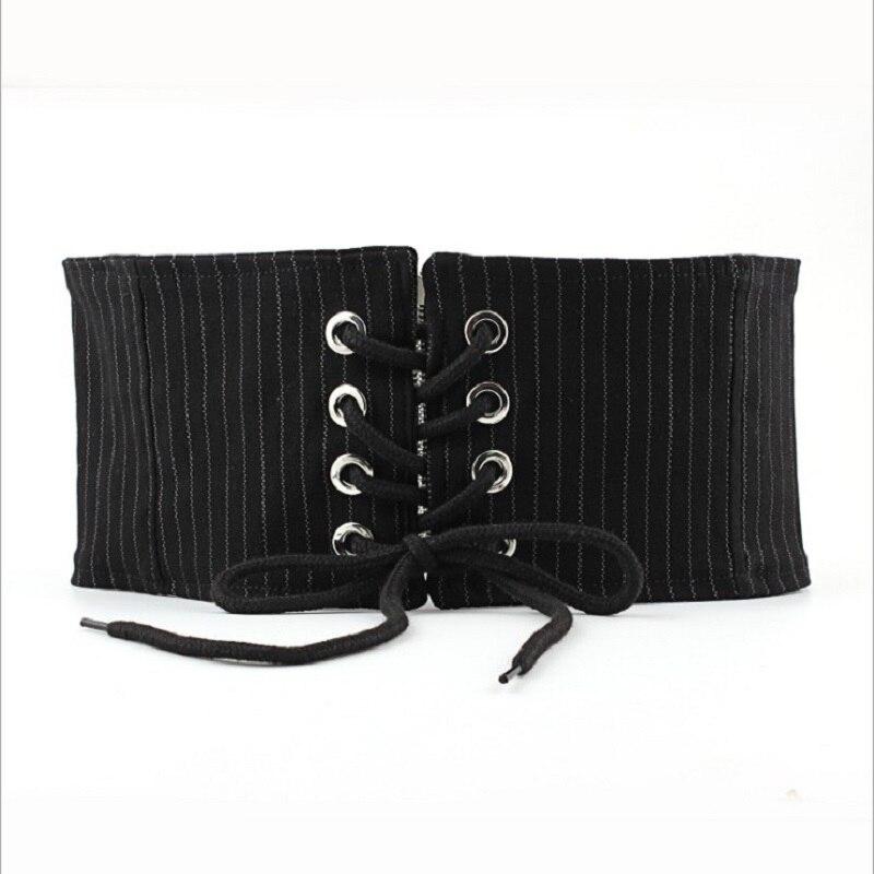 New Retro 12.5 Cm Black Women Designer Wide Elastic Belt For Dresses Corset Belts Female Wide Cummerbunds Waistbands For Women