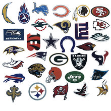 32Pcs/Lot PVC Waterproof American Football Club Logo For Laptop Trunk Skateboard Fridge Phone Decal Car-Styling Toy Sticker(China)