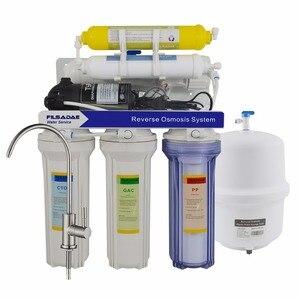 75GPD система фильтрации обратного осмоса с напоминанием о раковине, 6-ступенчатая Бытовая система фильтрации воды с минерализацией RO