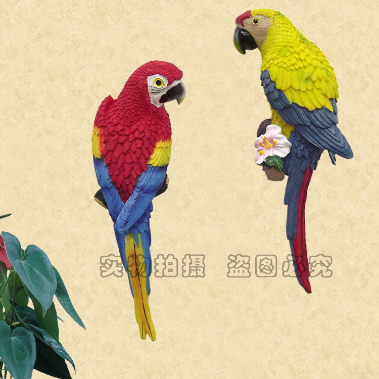 Solid wall hanging parrot American country wall pendant ornaments ...