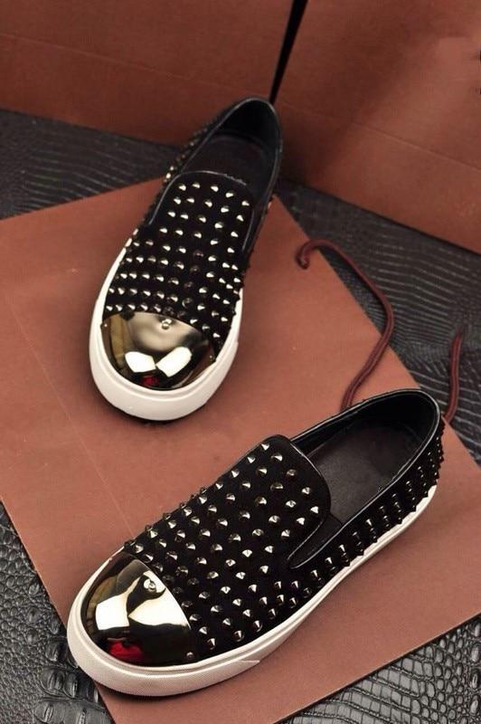 70fcb5d21b US $65.0 |Men shoes superstar brand rivets design loafers gold glitter  front men flat shoes platform loafers zapatillas deportivas hombre-in  Women's ...