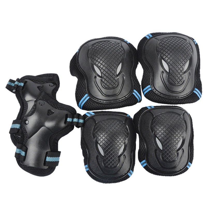 Adult Child Ice Skating Knee Elbow Pads Wrist Guards Protective Gear Set For Outdoor Activities Safety BB55