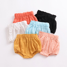 Kawaii Newborn Baby Boys Bloomers Shorts PP Pants Cotton Linen Triangle Solid Dot Striped Girls Summer Trousers 0-5Y