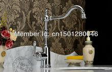 Однорычажный бассейна кухонной мойки смесители кран золотой цвет туалет высокий класс латунь медь ванной отеля классический
