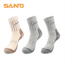 3 Pairs SANTO S015 Outdoor Cotton Socks Mens Sports Quick Dry Warm Spring Winter Fit to Size 39-43